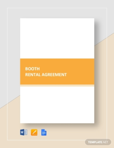 sample booth rental agreement