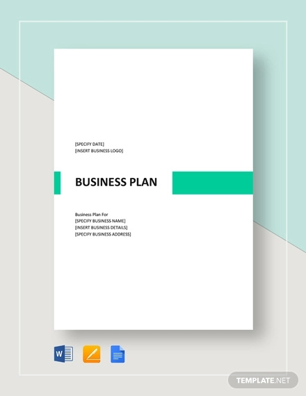 Business Plan Templates Pdf