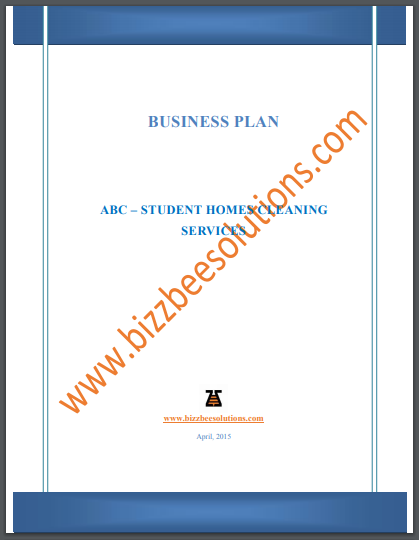 sample cleaning business plan