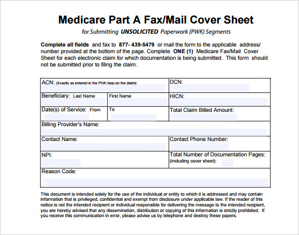 sample fax cover sheet template in pdf
