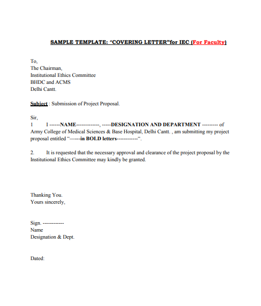 sample medical cover letter template
