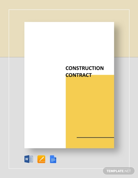 sample residential construction contract