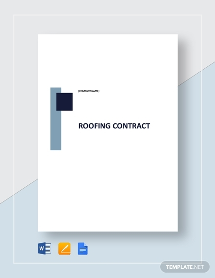 sample roofing contract