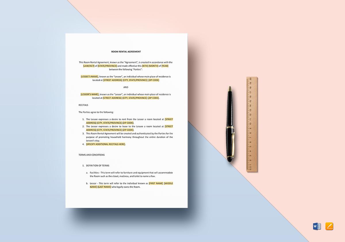 sample room rental agreement1