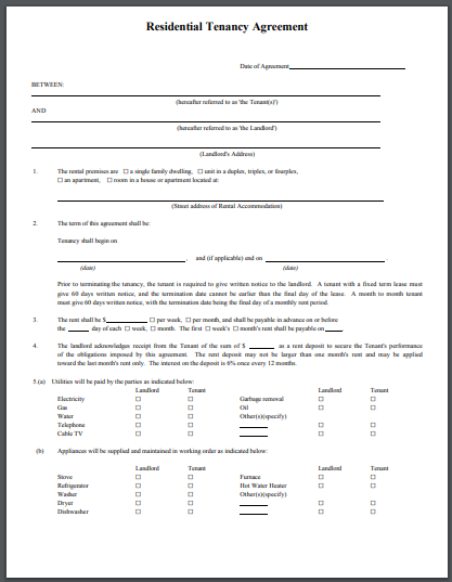 sample residential tenancy agreement1