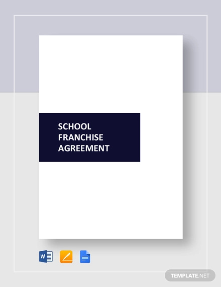 school franchise agreement template