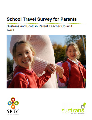 school travel survey for parents