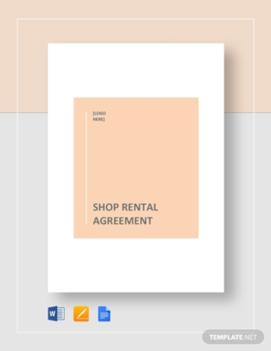 shop rental agreement