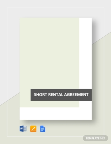 short rental agreement