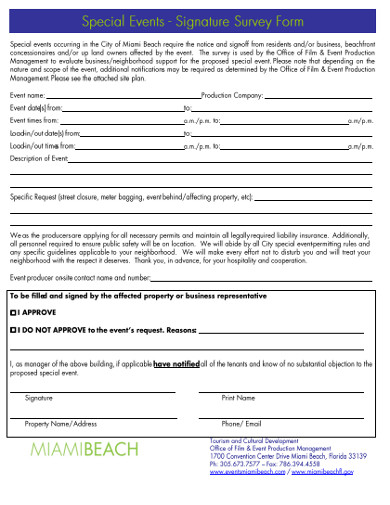 signature survey form