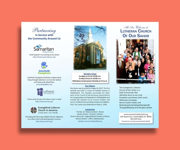 simple church brochure