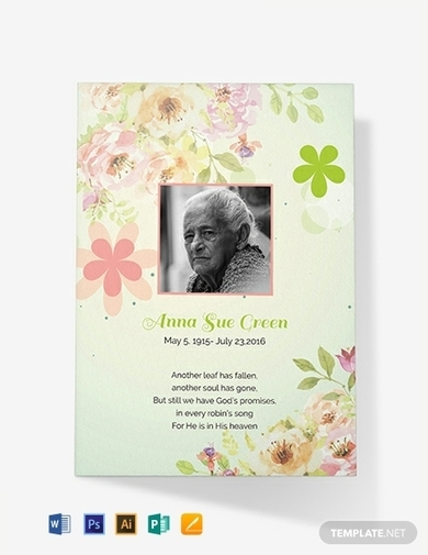 simple funeral thank you card