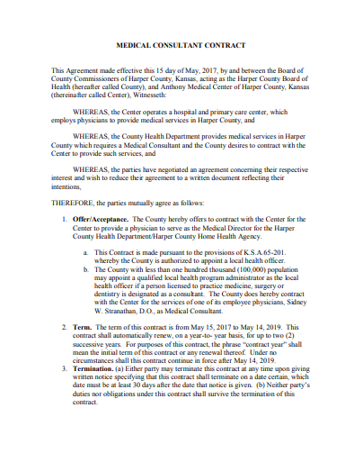 simple medical consultant agreement