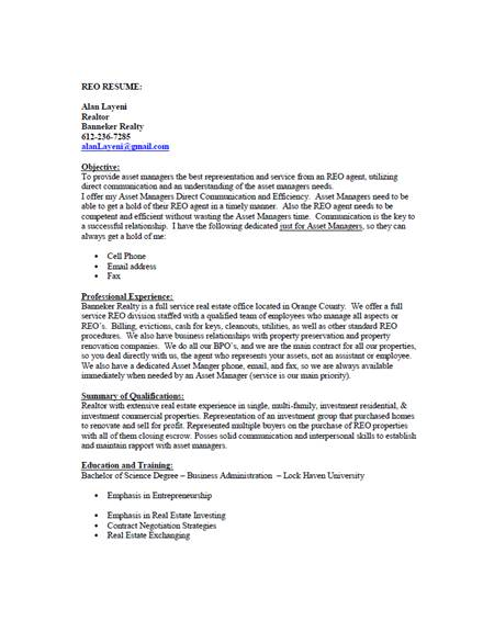 15  best real estate resume examples  u0026 templates  download