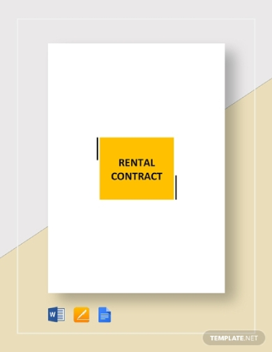 simple rental contract