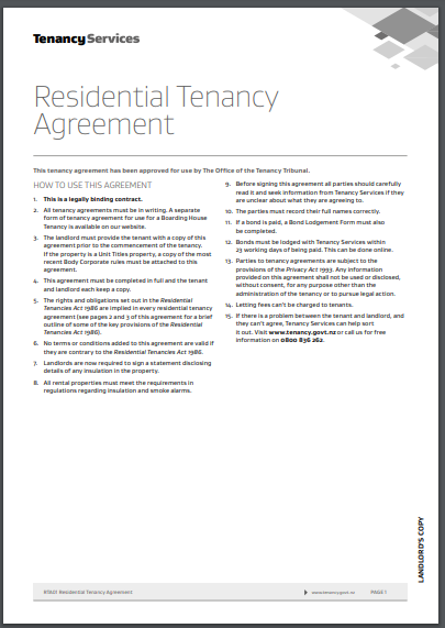 simple residential agreement