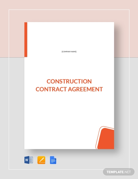 simple residential construction contract