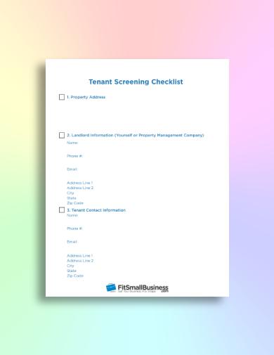 simple tenant screening checklist