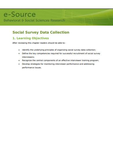 social survey data collection