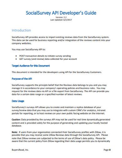 socialsurvey api developer's guide
