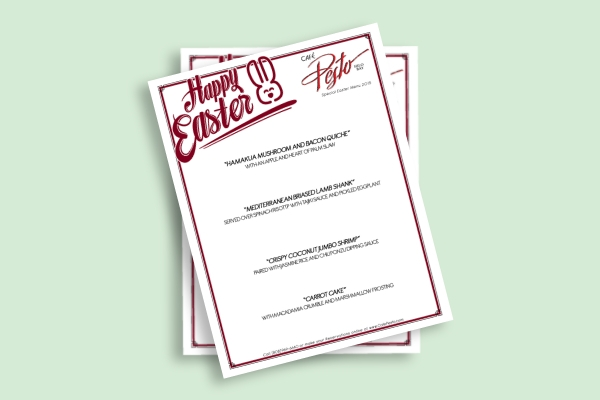 special easter menu