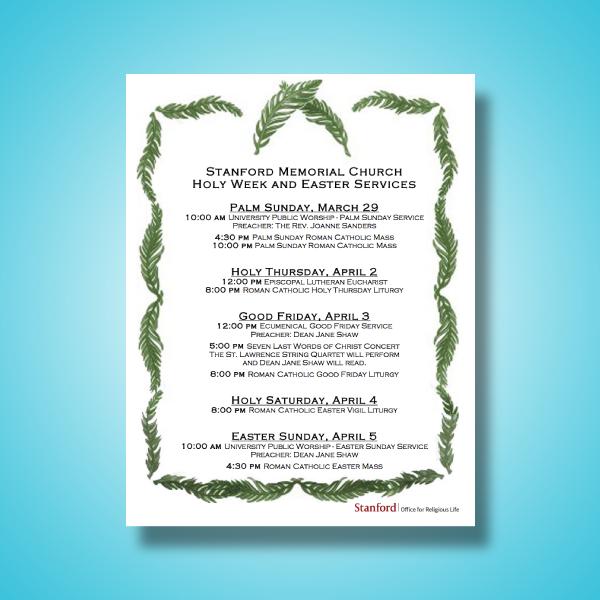 stanford memorial church service program