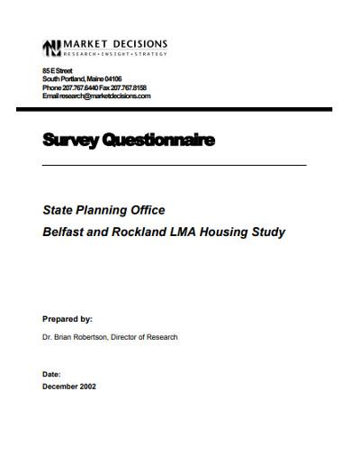 survey questionnaire in pdf