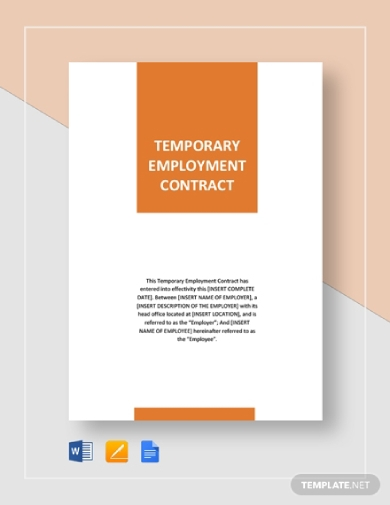 temporary employment contract