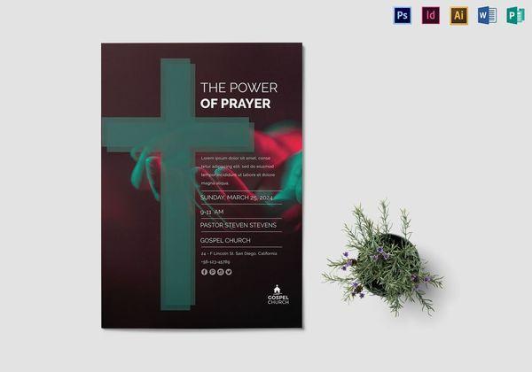 the power of prayer church flyer