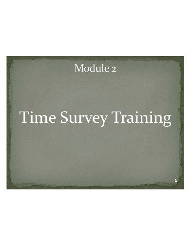 time survey training