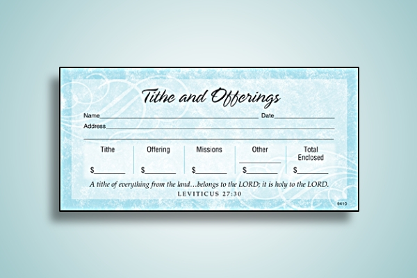 tithes and offerings church envelope