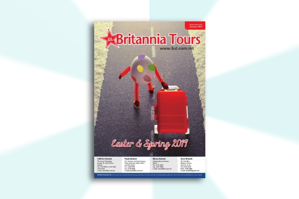 tour company easter brochure