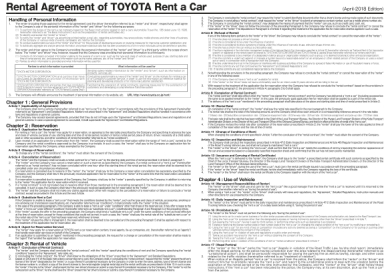toyota rent a car agreement