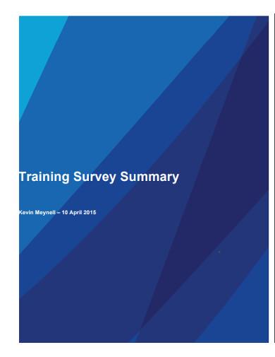 training survey summary