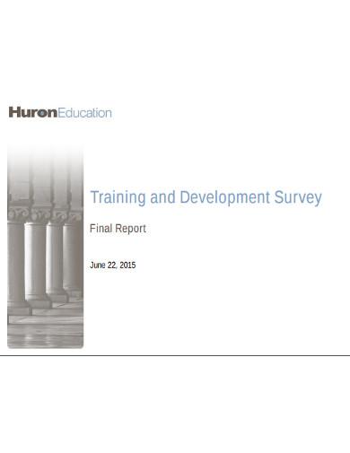 training and development survey