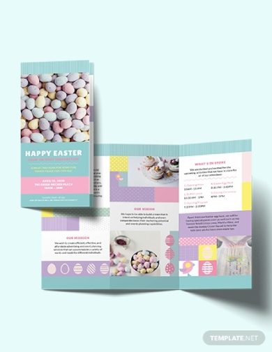 trifold easter brochure