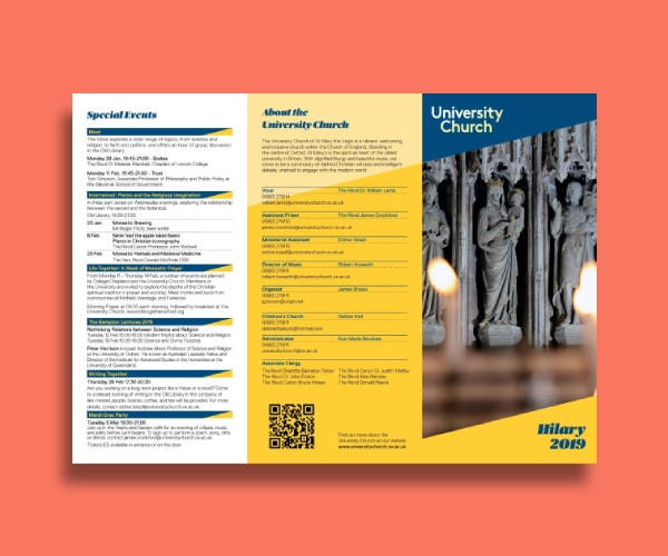 university church brochure