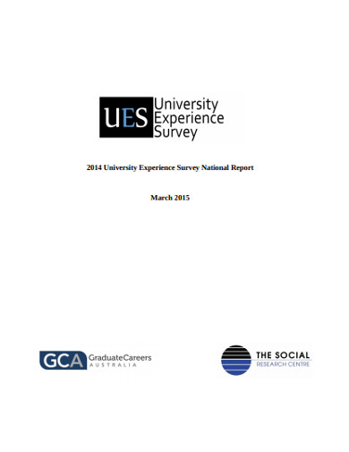 university experience survey national report
