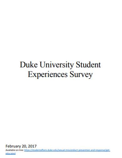 university student experiences survey
