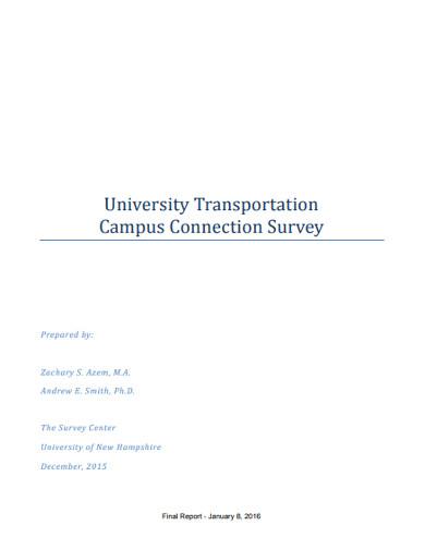 university transportation campus connection survey
