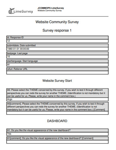 website community survey