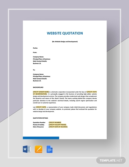 website quotation template1