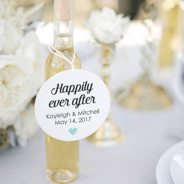 wedding bottle tag