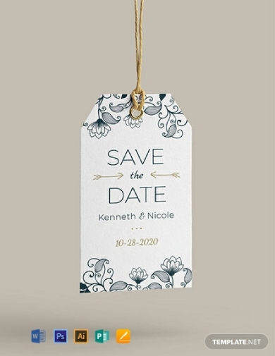 wedding invitation tag
