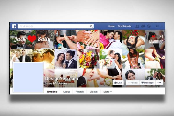 wedding photo collage facebook cover