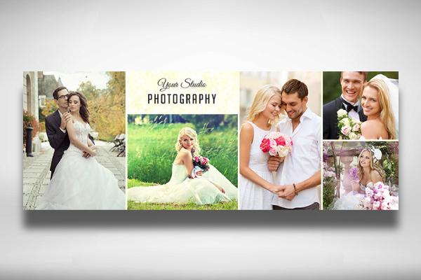 wedding photographer photo collage facebook cover