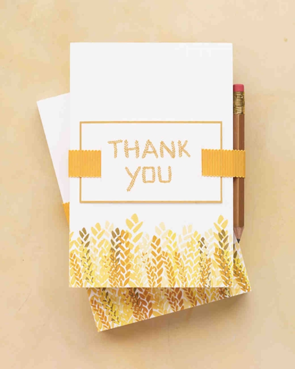 wedding thank you greeting card