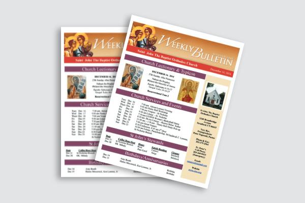 weekly church bulletin