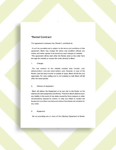 wifi rental contract