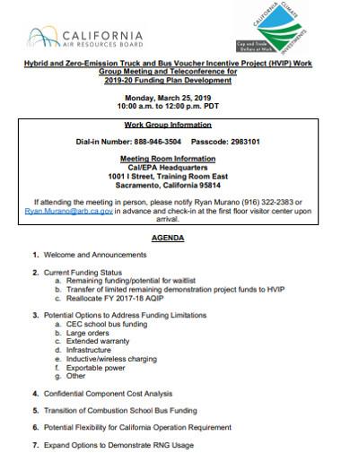work group information agenda